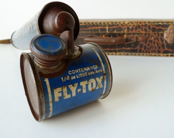 Old French Insecticide Spray Industrial Decor Fly Sprayer Atomizer Bug Vintage Flytox Metalware