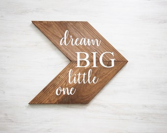 Woodland Nursery Decor- Dream Big Little One Sign- Nursery Decor- Rustic Nursery Decor- Above the Crib Nursery Decor- Gender Neutral Nursery
