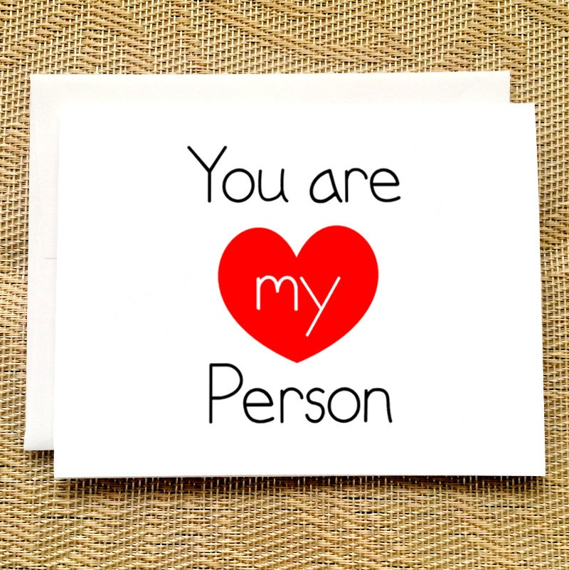 Birthday Card for Her You are My Person Greys Anatomy – Birthday Cards for Someone You Love