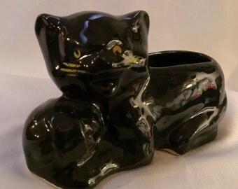 Black Cat Planter  (743)
