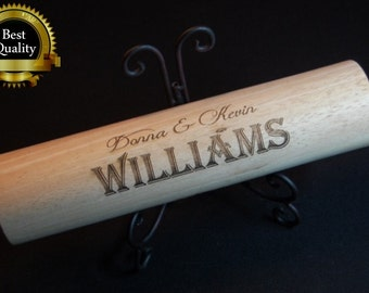 Personalized Rolling Pin, Engraved Rolling Pin, Personalized Kitchen Decor, Wedding Gift, Bridal Shower Gift, Birthday Gift, Christmas Gift