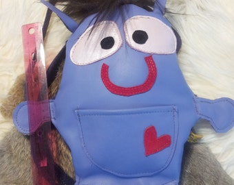 Leather Creature, Backpack, Children, Teens, Birthdays, School supplies