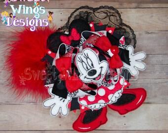 Red Minnie OTT Hairbow