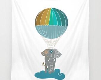 balloon tapestry etsy. Black Bedroom Furniture Sets. Home Design Ideas
