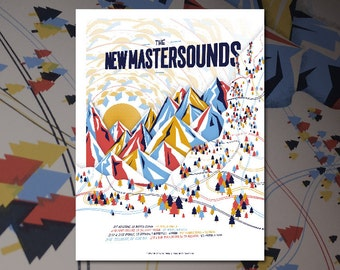 The New Mastersounds Tour Winter 2016 Screenprint Gig Poster