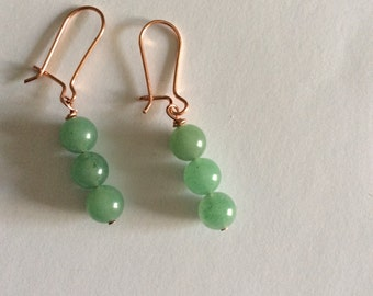 Pea pod earrings