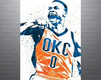 Russell Westbrook Oklahoma City Thunder Poster