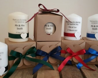 Wedding favours - candle