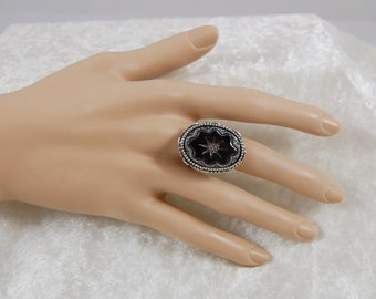 Morticia's Ring- Choose Black or Blue