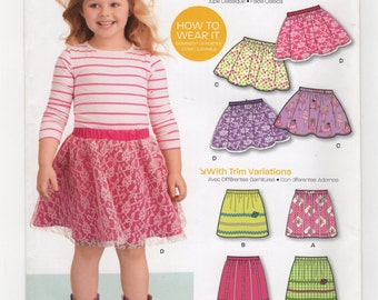 New Look Pattern 6172 Children's Skirts Six Sizes in One, Size A (3-8) UNCUT