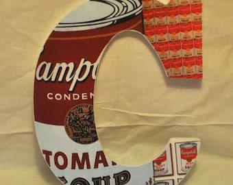 Campbells Soup Wood Letter