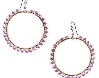 Lavender Hoops