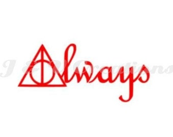 Deathly Hallows Always Decal | HP-inspired Decal | Harry Potter Decal | Always Decal | Deathly Hallows Decal