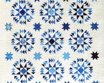 Flying in Circles - Quilt Pattern by Lessa Siegele. This awesome pattern looks like circles but is all straight piecing! Dizzy Geese Redone!