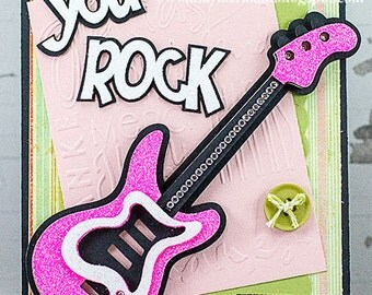 Handmade You Rock Guitar Card