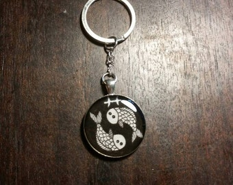 Pisces Astrology Resin Keychain