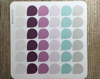 Teardrop Stickers for your Inkwell Press Planner! Gelato