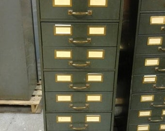 Shaw Walker Nine Drawer File Cabinet
