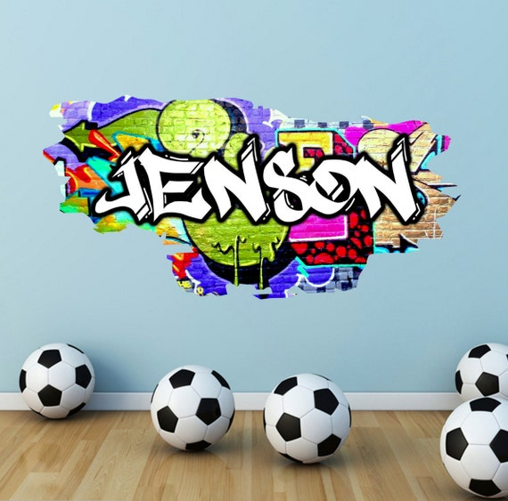 personalised custom graffiti name wall art stickers decor for gallery for gt baby name on wall