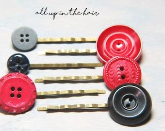 Flower Bobby Pins - Bobby Pins - Hair Pins - Bobby Pin Set - Flower Hair Pins - Large Bobby Pins - Rhinestone Bobby Pins - Tulip Bobby Pin
