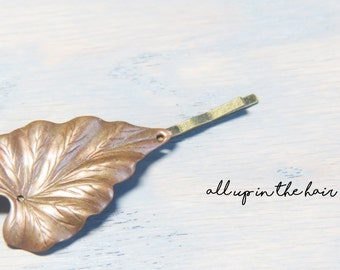 Leaf Bobby Pin - Ivy Leaf Hair Pin - Flora Bobby Pin