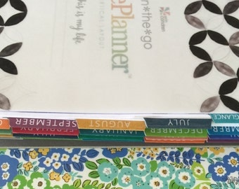 MONTHLY TAB COVERS | made to fit Erin Condren Life Planner