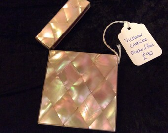 Antique Victorian mother of pearl card case