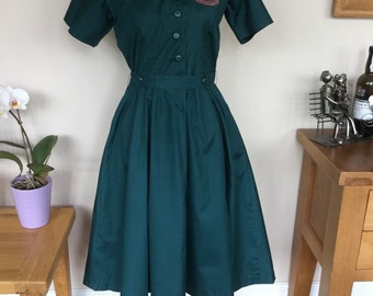 Reproduction 1940's Womens Voluntary Uniform Dress.