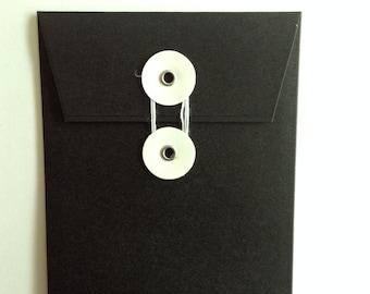 Set of 8 String Tie Envelopes, Chalkboard Envelopes, Sturdy Envelopes, Many Uses, Recollections