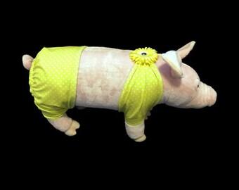 Teenie Weenie Polkadot Bikini--Yellow/Pink Polkadot