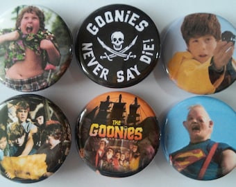 The Goonies Movie Badge Button Pin Set of 6