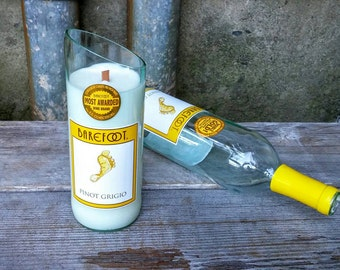 Recycled Barefoot Pinot Grigio Candle