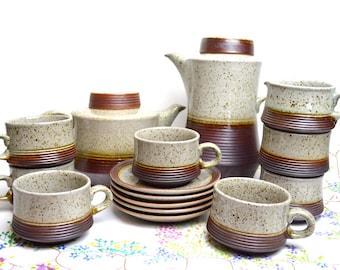 SALE SALE SALE 1970s retro eathernware coffee and tea set was 26.99 now 14.99
