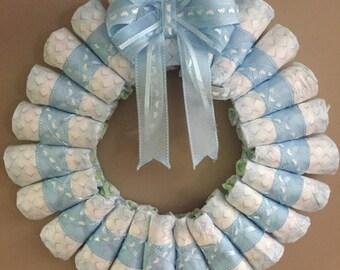 Baby Diaper Wreath