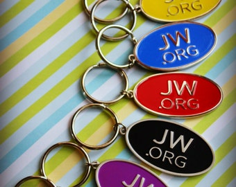 JW.org Keychains. Variety 8 Pack. All colors shown. Ultra High Quality.