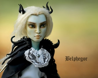 Belphegor - OOAK Monster High Repainted Art Doll