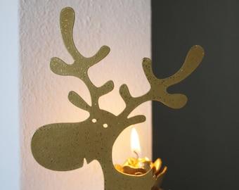 REINDEER CANDLESTICK 3D - Christmas decorations
