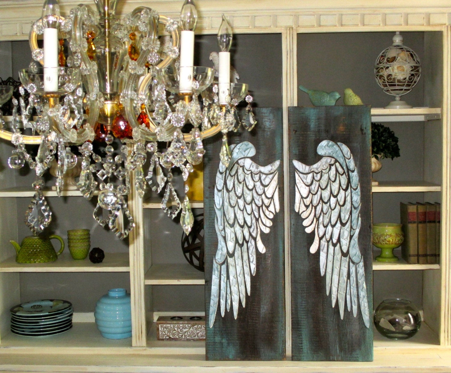 Angel wing wall decor angel wings large angel wings angel for Angel wall decoration
