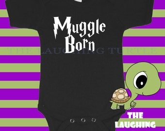 Baby. Boy. Girl. Harry Potter. Muggle Born. Onesie. Romper. Cotton. Funny
