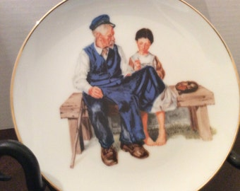 Norman Rockwell inspired Decorator Plate, The Lighthouse Keeper's Daughter, Museum Collections Inc.  1986
