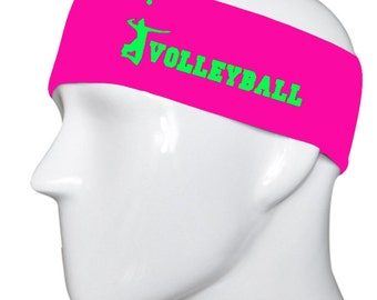 Volleyball  Hot Pink/Lime Green Headband