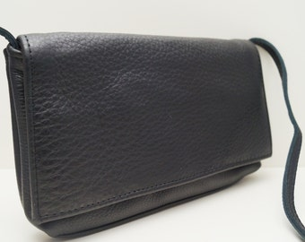 "Leather bag ""Noomi"" in black, leather purse, satchel, sling bag, leather handbag, leather shoulder bag, tote bag, crossbody bag, strap bag"