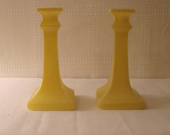 Candlesticks > Glass > Yellow Matte Finish