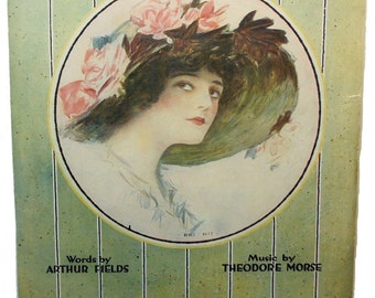 ALICE I'M IN WONDERLAND (Since the day that I first met you) Vintage Sheet Music 1918