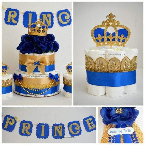 Royal Baby Gift Ideas : Items similar to party in a box royal prince diaper cake