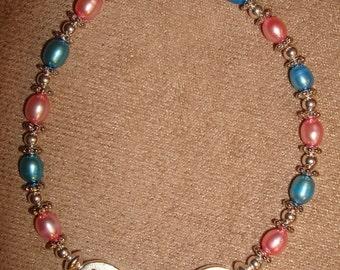 Pearl Bracelet, Freshwater Pearl Bracelet, Faith & Joy , Pregnancy and Infant Loss Awareness Bracelet, Birthday Gift, Woman Gift, Angel Baby