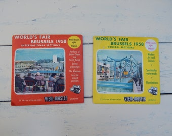 View Master 1958 Brussels Worlds Fair World Events Series International & General Sections / Sawyers Europe Vintage View-Master