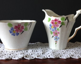 Pretty Duo, Vintage Milk Jug and Sugar Bowl.