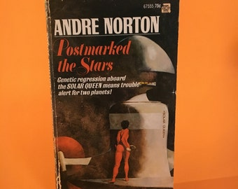 Vintage Sci Fi Novel Postmarked the Stars by Andre Norton Retro Science Fiction Book Space Fantasy