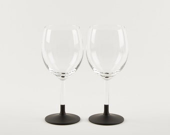 2 Chalkboard Wine Glasses - Perfect for Birthday   Anniversary   Celebration Gifts!